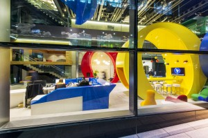 Google Campus Dublin - Google Docks Reception - Foto Peter Wurmli - © Camenzind Evolution