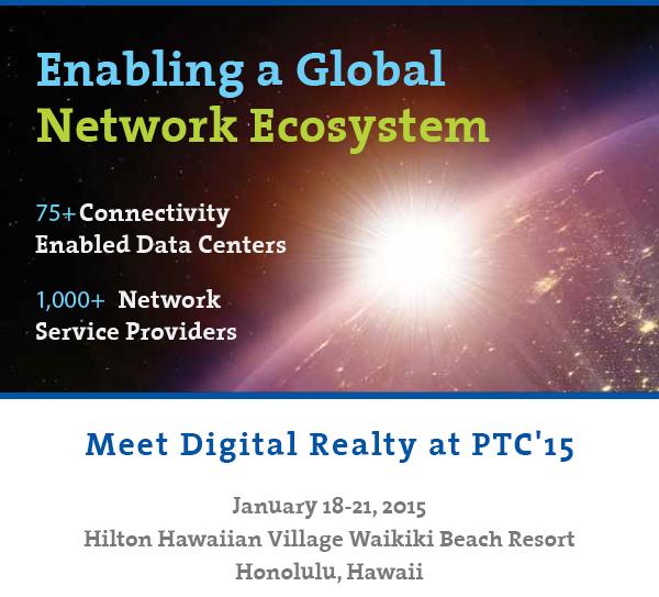 Meet Digital Realty at PTC
